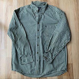 Eddie Bauer Tall XL Green Plaid Button Down Shirt